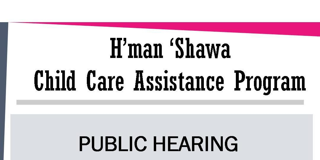 Child Care Assistance Program Public Hearing